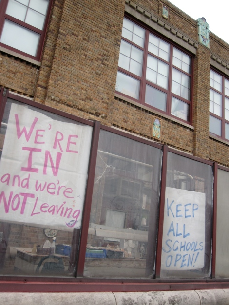 CFA students occupied their school in April, and threatened to do so again in June before DPS announced CFA would remain open—as a charter school.