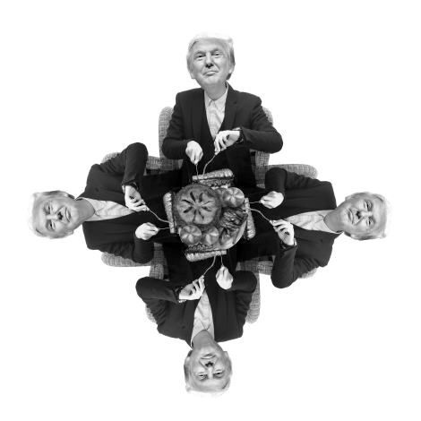 trump black and white star